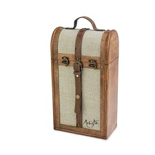 The Artiste 2-Bottle Vintage Trunk